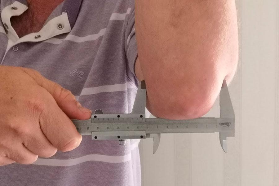 как измерить ширину локтя