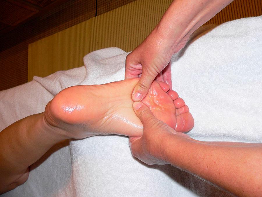 массаж ног убрать усталость