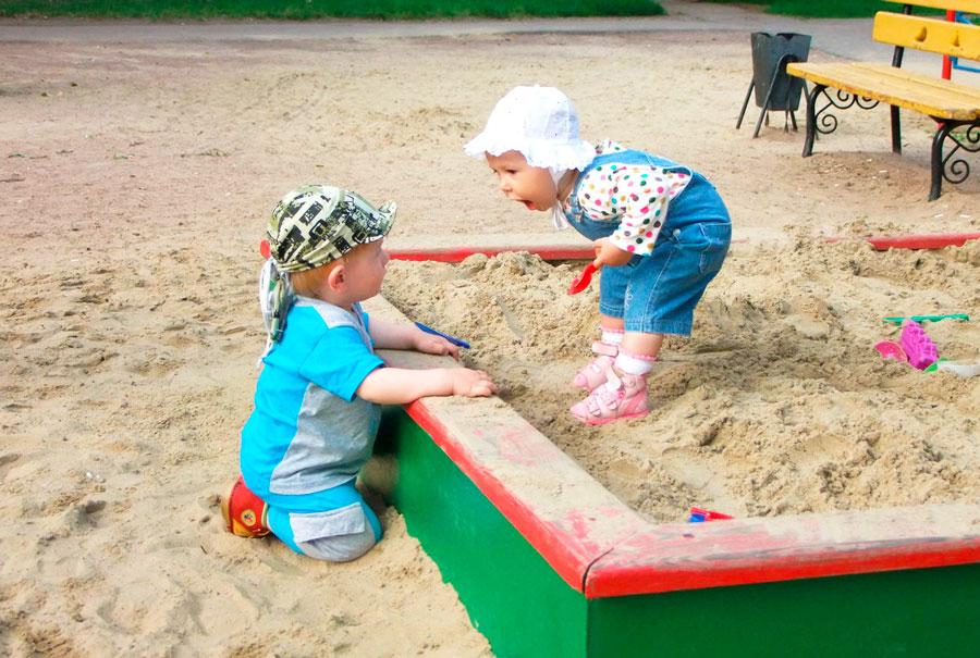 дети песочница лидер