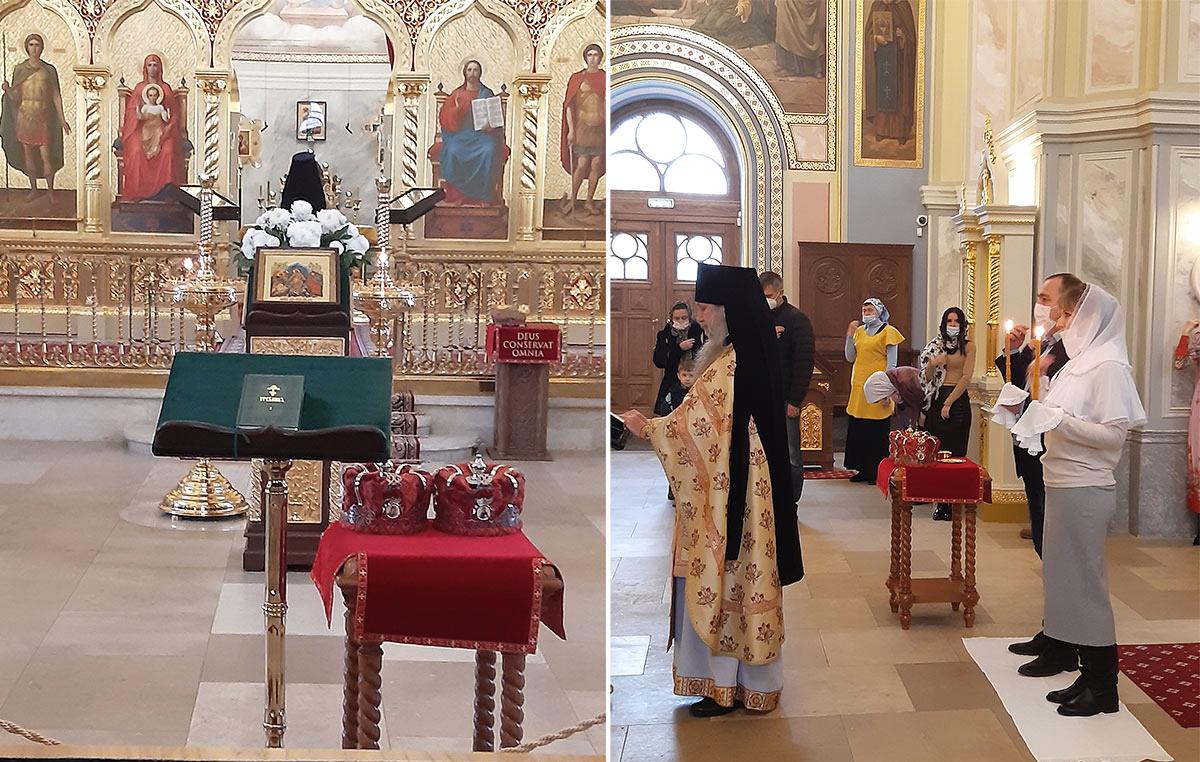 венчание в православной церкви влюбленной пары