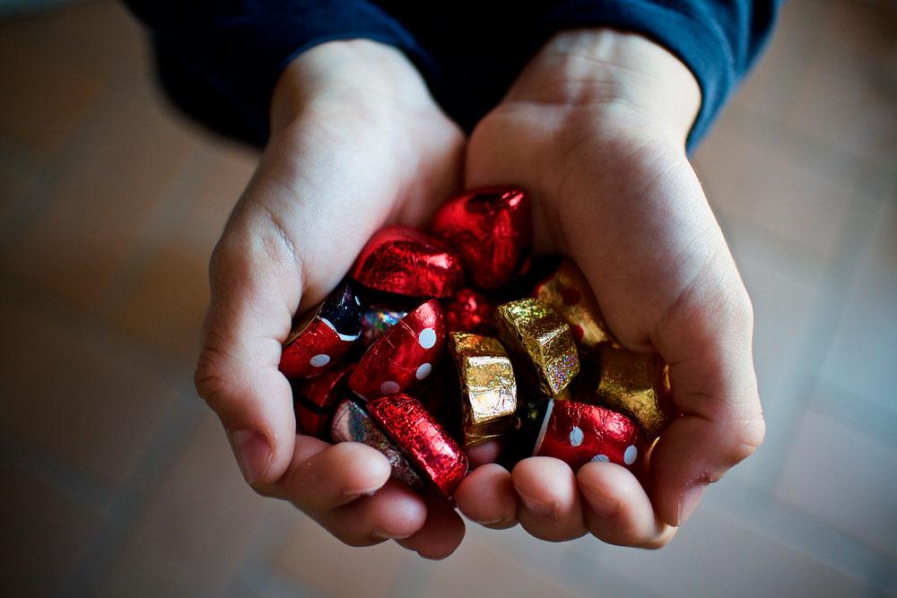 вознаграждение, конфеты