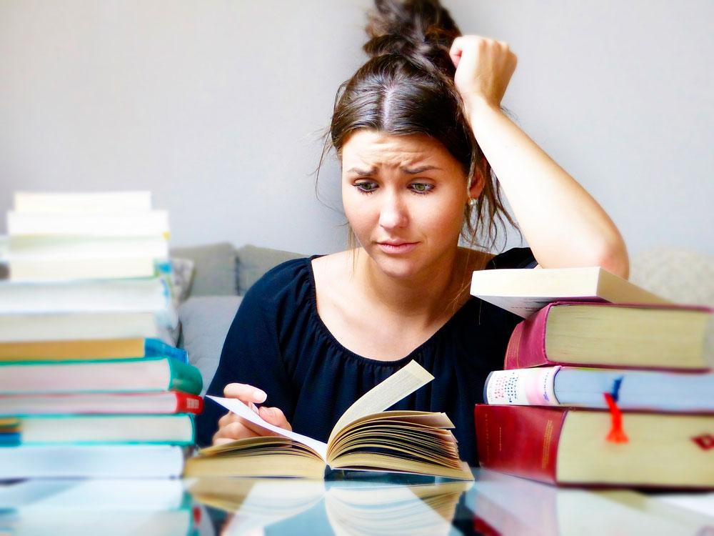 чтение книги, отсутствие концентрации