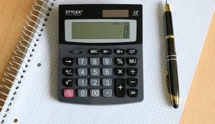 Калькулятор расчета суммы кредита (ежемес. платеж, % ставки, срок кредита)