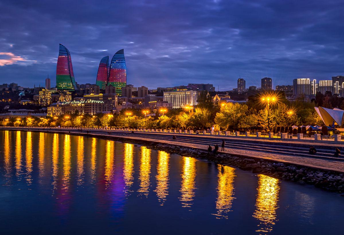Baku бульвар, набережная