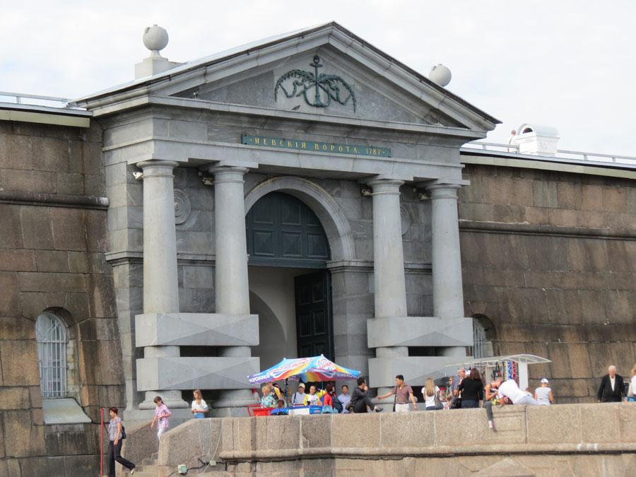 Невские ворота в Петропавловке