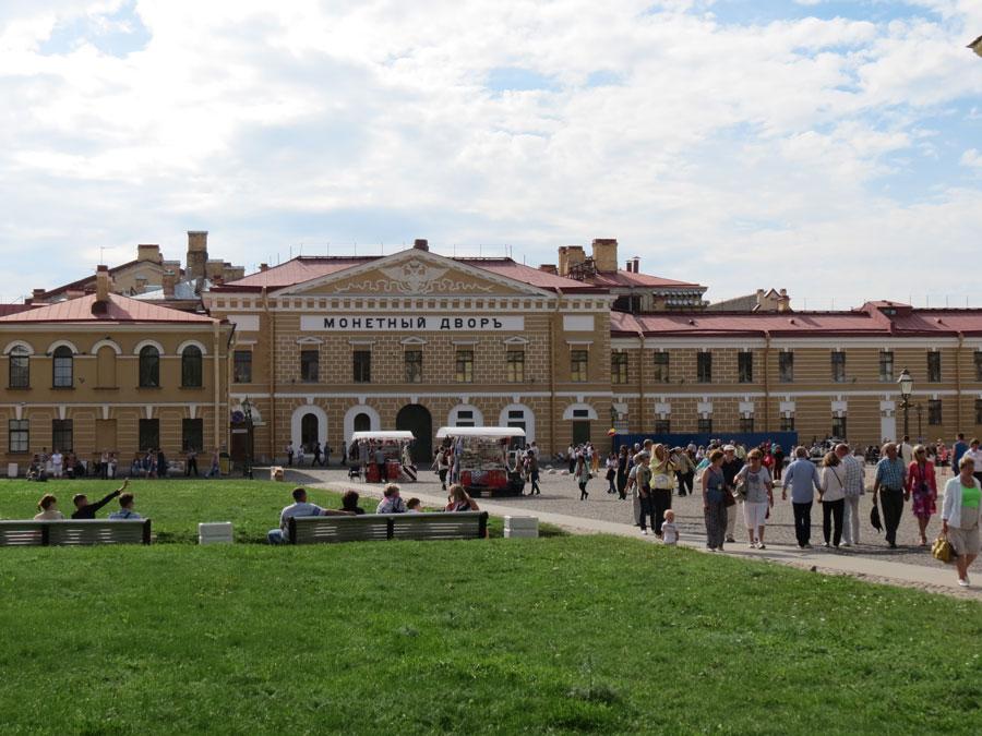 Монетный двор на территории Петропавловской крепости